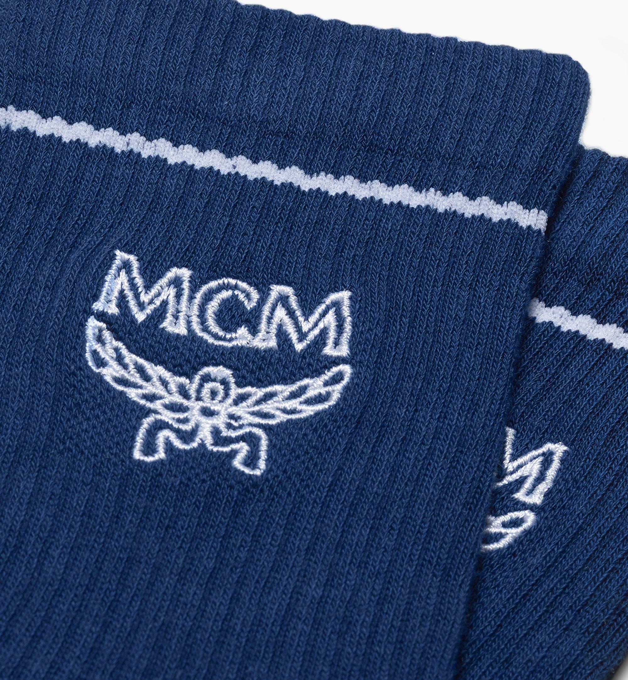 MCM 經典標誌綿襪 Blue MEZASBM01LU0SM Alternate View 2