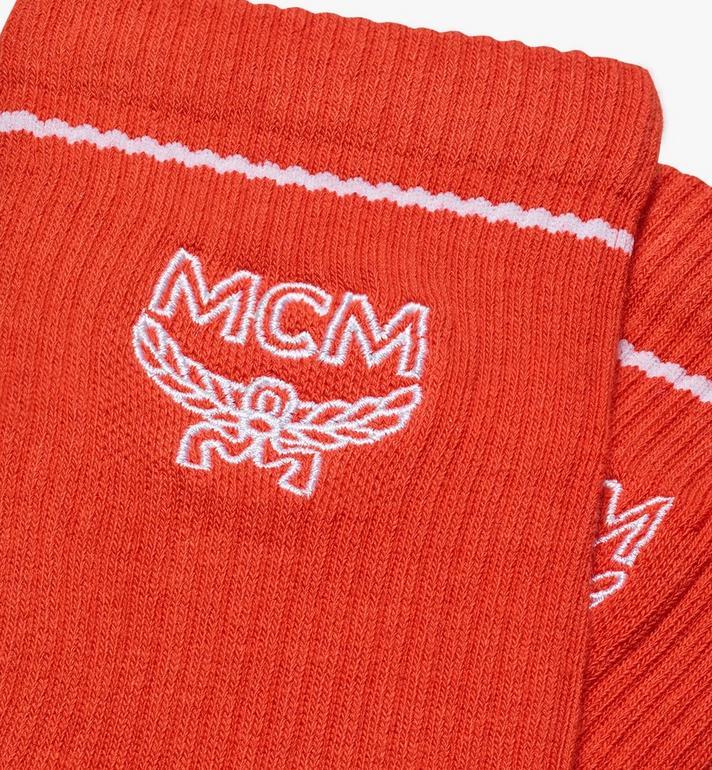 MCM Classic Logo Cotton Socks Orange MEZASBM01OR0SM Alternate View 2