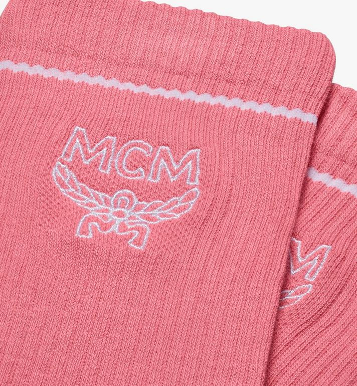 MCM Classic Logo Cotton Socks Pink MEZASBM01PK0ML Alternate View 2