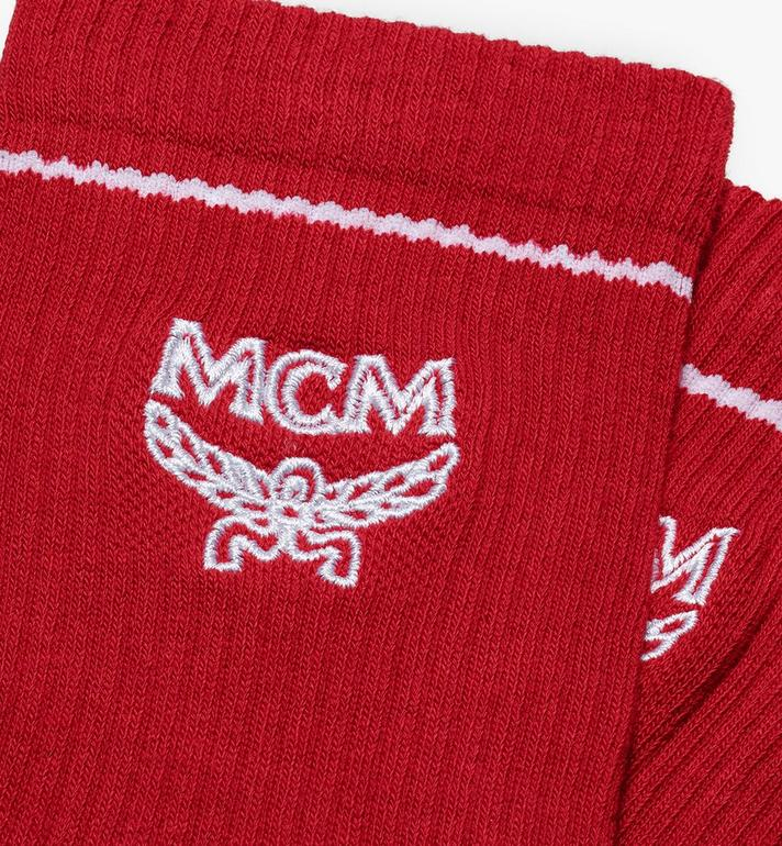 MCM Classic Logo Cotton Socks Red MEZASBM01RE0SM Alternate View 2