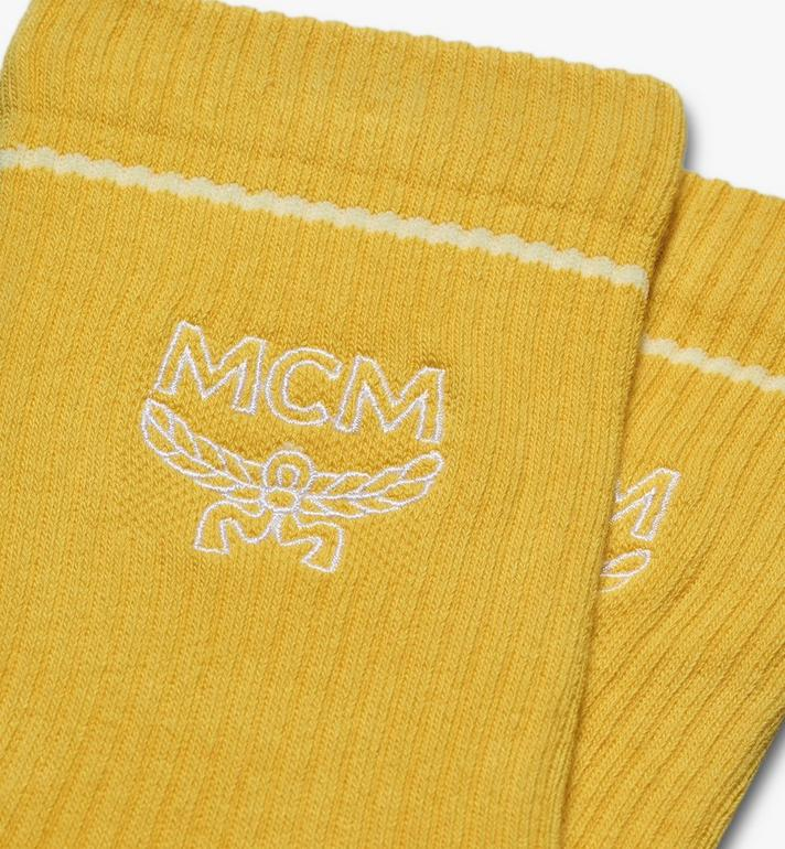 MCM Classic Logo Cotton Socks Yellow MEZASBM01YW0ML Alternate View 2