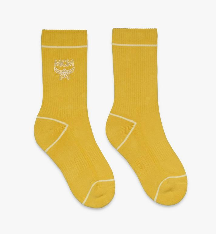 MCM Classic Logo Cotton Socks Yellow MEZASBM01YW0SM Alternate View 1