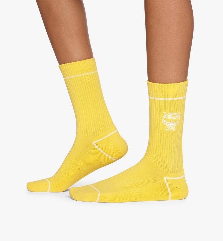 MCM Classic Logo Cotton Socks Yellow MEZASBM01YW0SM Alternate View 3