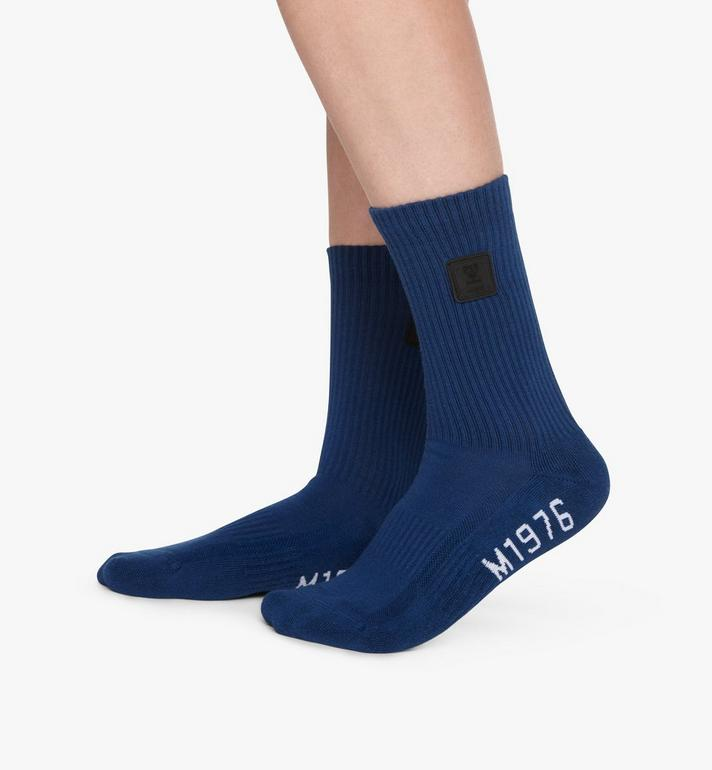 MCM 1976 Logo Plate Socks Blue MEZASBM02LU0SM Alternate View 3