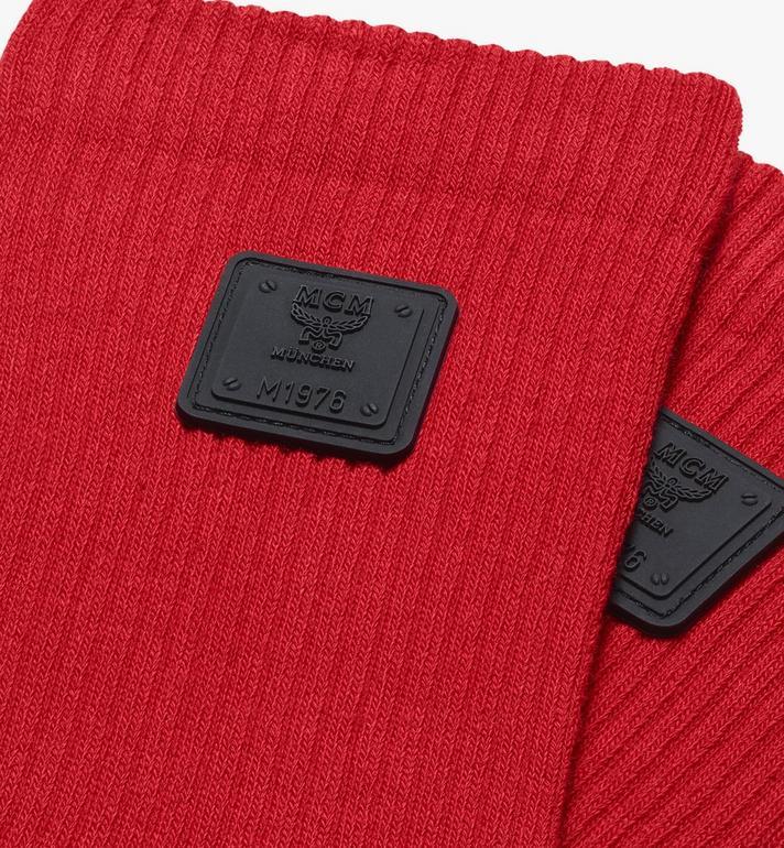 MCM 1976 Logo Plate Socks Red MEZASBM02RE0ML Alternate View 2