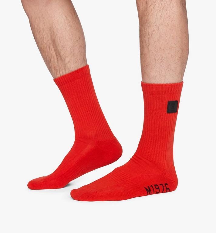 MCM 1976 Logo Plate Socks Red MEZASBM02RE0ML Alternate View 4