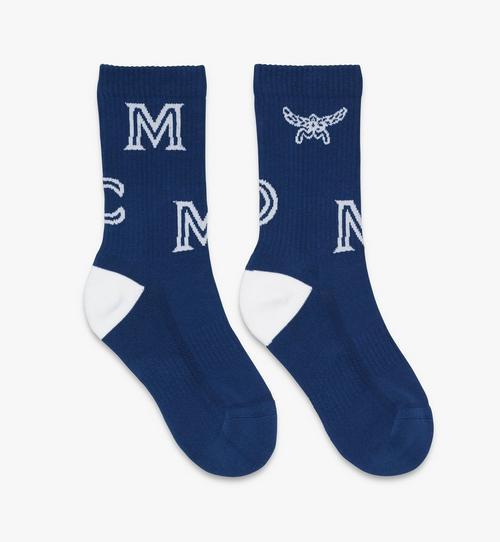 Monogram Print Cotton Socks