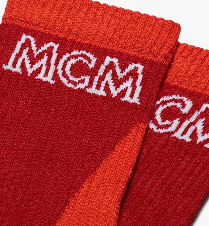 MCM Colorblock Cotton Socks Red MEZASBM04RE0ML Alternate View 2