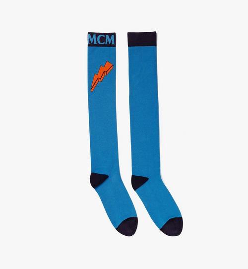 Chaussettes hauteur genou à logo en intarsia