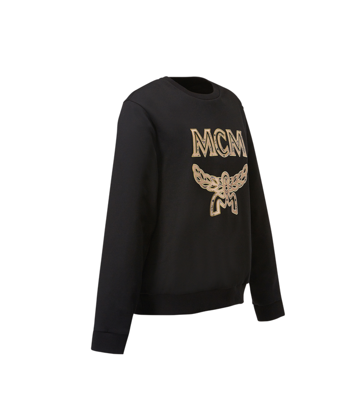 MCM Women's Logo Sweatshirt Black MFA8SMM13BK00S Alternate View 2