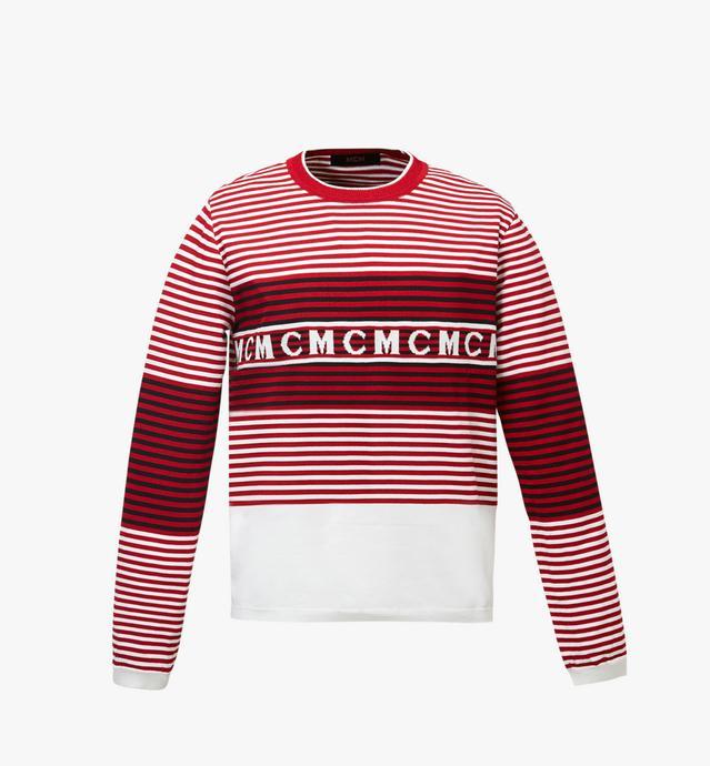 T-shirt logo tricoté à rayures pour femme