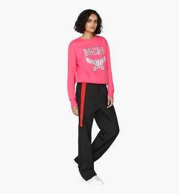 MCM Women's Logo Sweatshirt Pink MFA9AMM13QS00M Alternate View 3