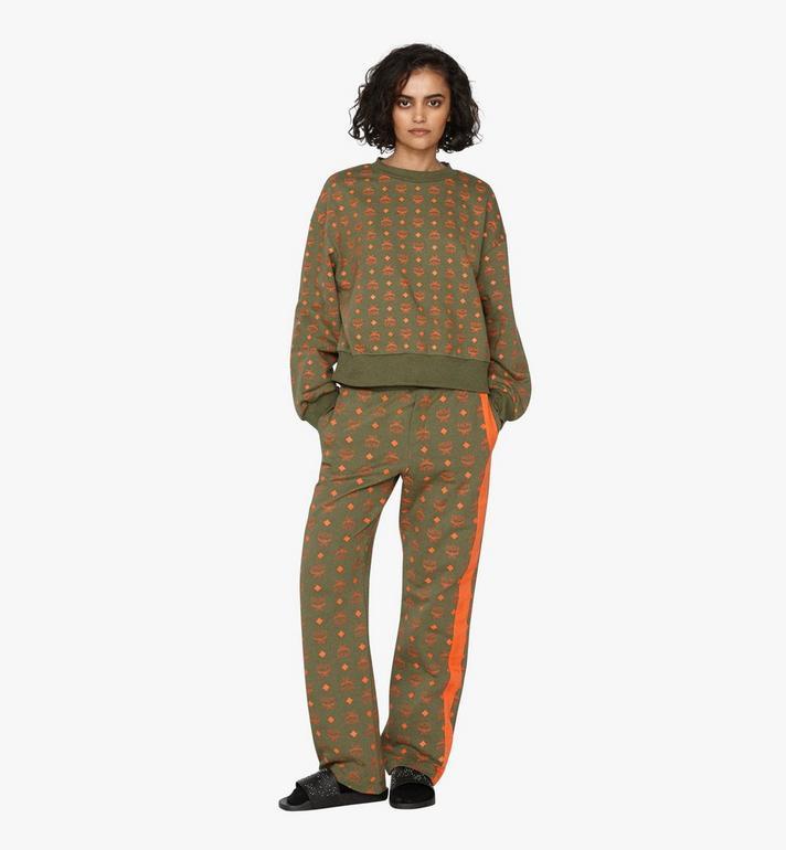 MCM เสื้อสเวตเชิ้ตทรงโอเวอร์ไซส์ผู้หญิงลาย Visetos Green MFA9AMM72G800M Alternate View 3