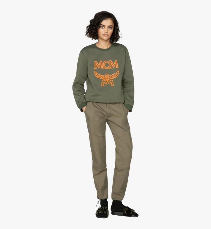 MCM เสื้อสเวตเชิ้ตสำหรับผู้หญิงพิมพ์ลายโลโก้ Green MFA9AMM97G800S Alternate View 3