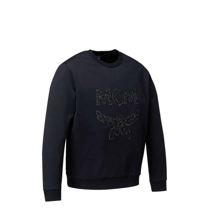 MCM Damen-Sweatshirt mit Crystal Detail Logo Black MFA9SMM93BK00S Alternate View 2