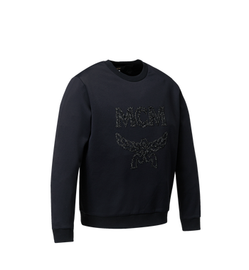 MCM Sweat-shirt Crystal Detail Logo pour femme Black MFA9SMM93BK00S Alternate View 2