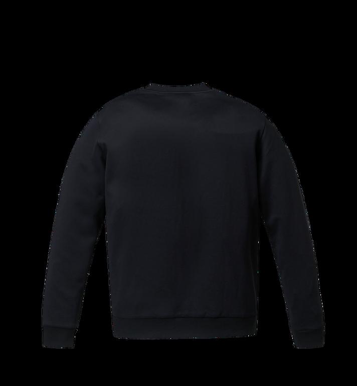MCM Damen-Sweatshirt mit Crystal Detail Logo Black MFA9SMM93BK00S Alternate View 3