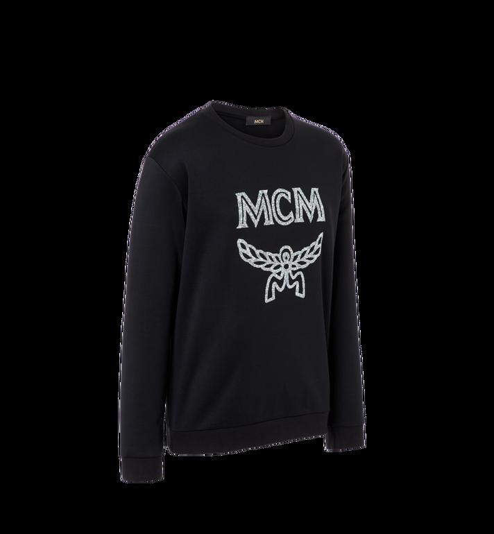 MCM Damen-Sweatshirt mit Crystal Detail Logo Black MFA9SMM95BK00L Alternate View 2