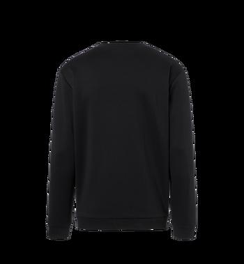 MCM Damen-Sweatshirt mit Crystal Detail Logo Black MFA9SMM95BK00L Alternate View 3