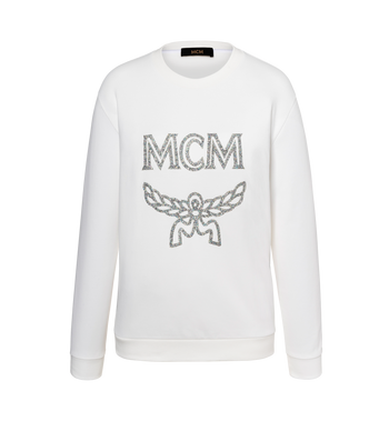 MCM Women's Crystal Detail Logo Sweatshirt Alternate View