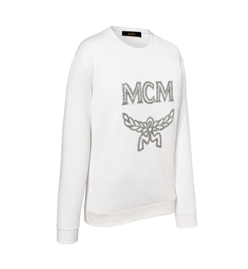 MCM Women's Crystal Detail Logo Sweatshirt Alternate View 2