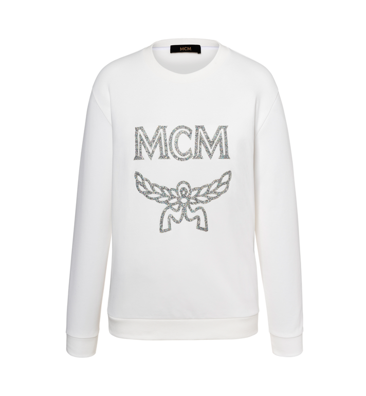 MCM Damen-Sweatshirt mit Crystal Detail Logo Alternate View