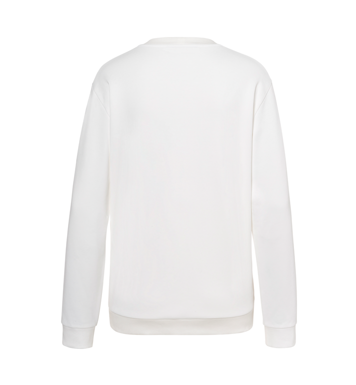 MCM Damen-Sweatshirt mit Crystal Detail Logo White MFA9SMM97WT00S Alternate View 3