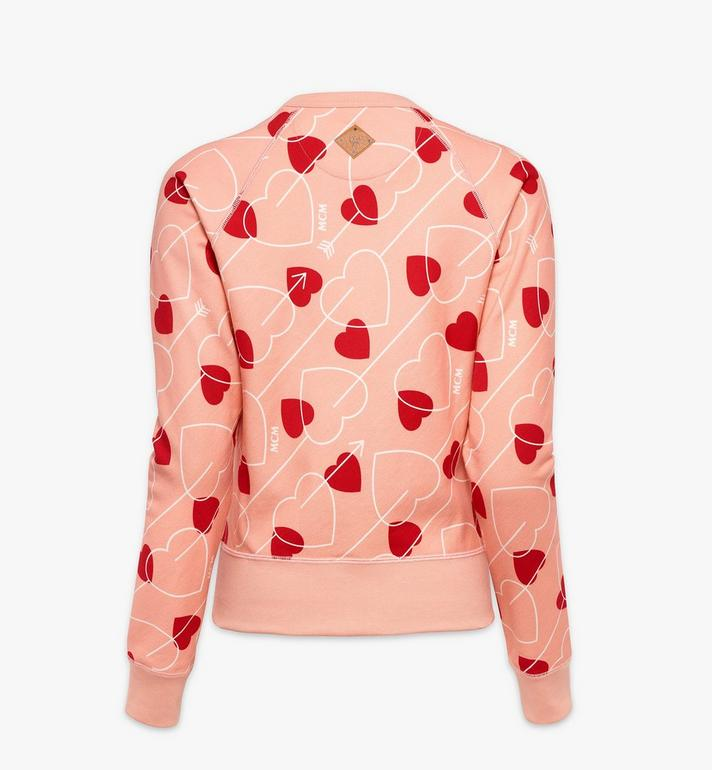 MCM Women's Valentine Sweatshirt Pink MFAAACF01QK00M Alternate View 2