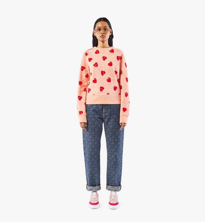 MCM Women's Valentine Sweatshirt Pink MFAAACF01QK00S Alternate View 3