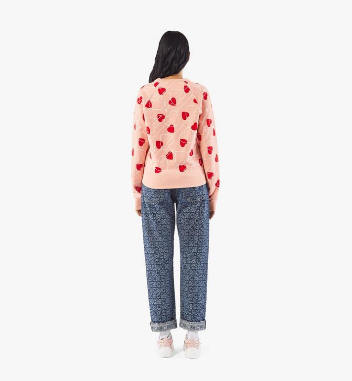 MCM Women's Valentine Sweatshirt Pink MFAAACF01QK00S Alternate View 5