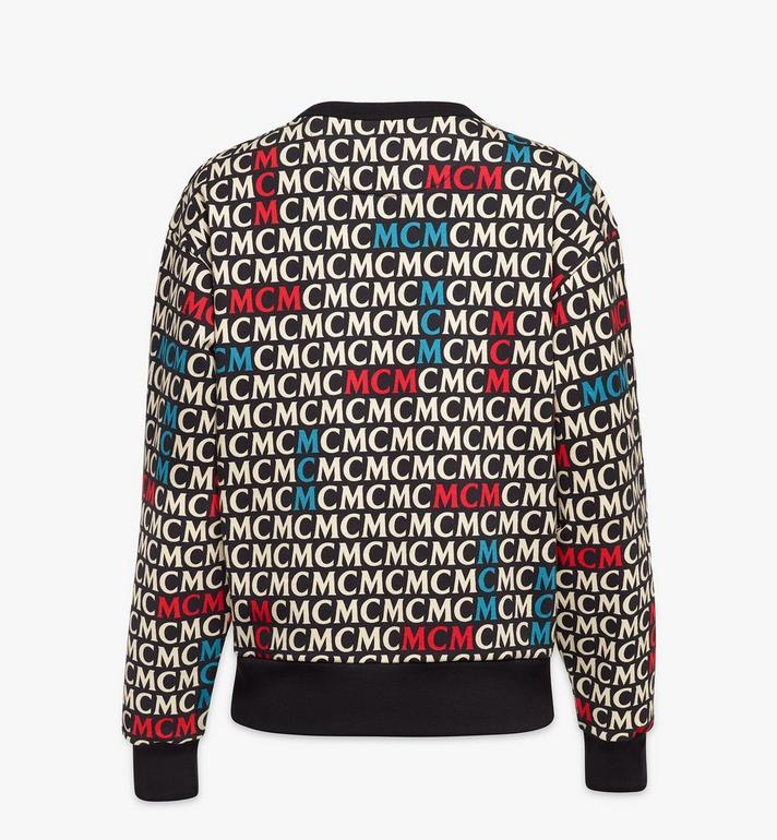 MCM Women's Monogram Sweatshirt Black MFAAAMD02MW00M Alternate View 2