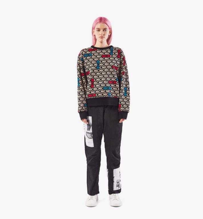 MCM เสื้อสเวตเชิ้ตลายโมโนแกรมสำหรับผู้หญิง Black MFAAAMD02MW00S Alternate View 3