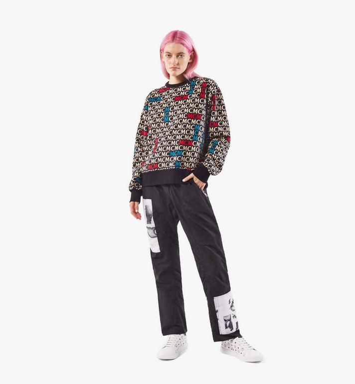 MCM เสื้อสเวตเชิ้ตลายโมโนแกรมสำหรับผู้หญิง Black MFAAAMD02MW00S Alternate View 6