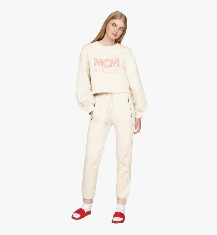MCM Women's MCM Worldwide Sweatshirt Beige MFAASMM03IH00S Alternate View 3