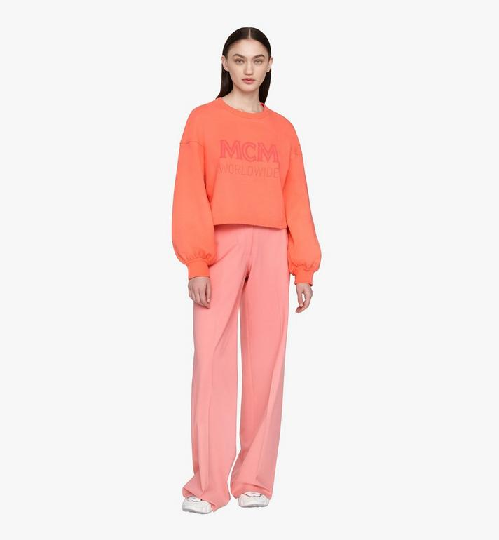 MCM Women's MCM Worldwide Sweatshirt Orange MFAASMM03O300S Alternate View 3