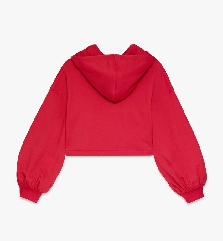MCM Women's Logo Hoodie Red MFAASMM04R400L Alternate View 2