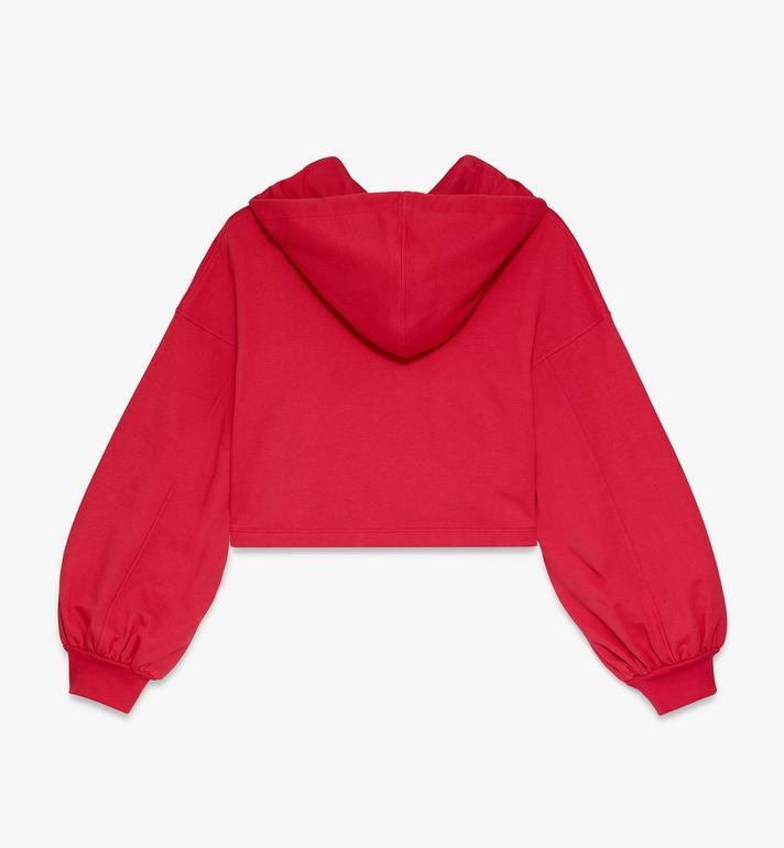 MCM 女裝標誌連帽上衣 Red MFAASMM04R400S Alternate View 2