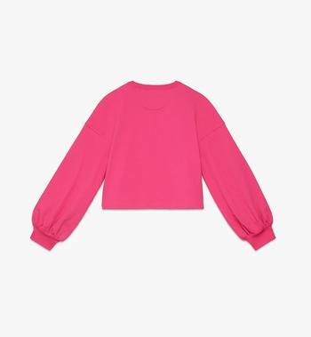 MCM Valentine Pullover mit Ballonärmeln für Damen Pink MFAASXN01QE00M Alternate View 2