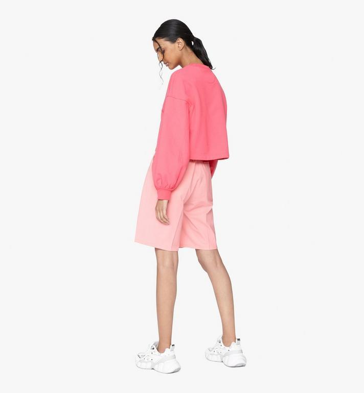 MCM Women's Valentine Balloon Sleeve Sweater Pink MFAASXN01QE00S Alternate View 3