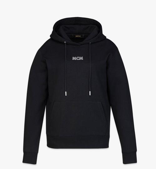 เสื้อฮู้ดปักโลโก้ MCM Essentials สำหรับผู้หญิง ทำจากผ้าฝ้ายออร์แกนิก