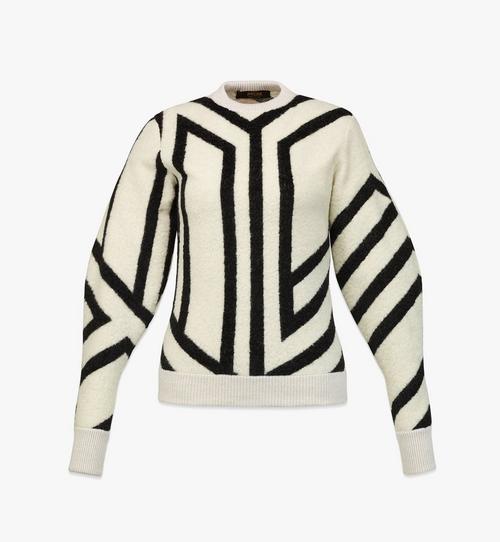 女士 Cubic Monogram 羊毛運動衫