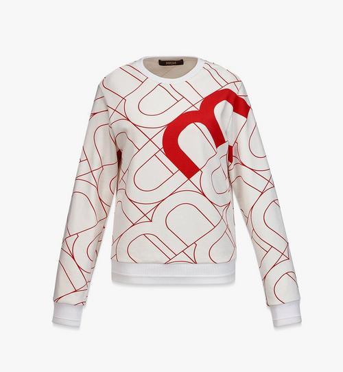 Sweatshirt mit Wave MCM Print für Damen