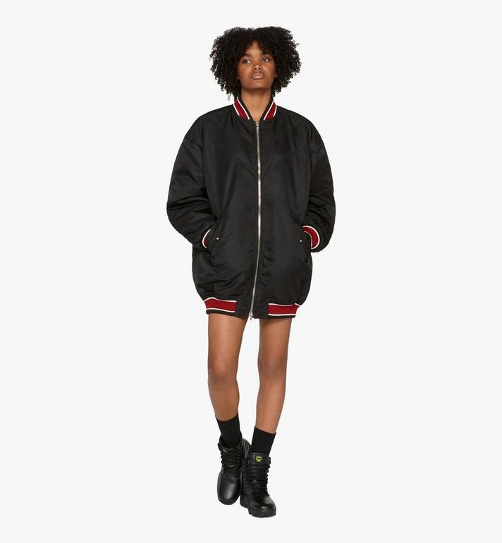MCM Women's Resnick Oversize Bomber Black MFC9ARA54BK042 Alternate View 3