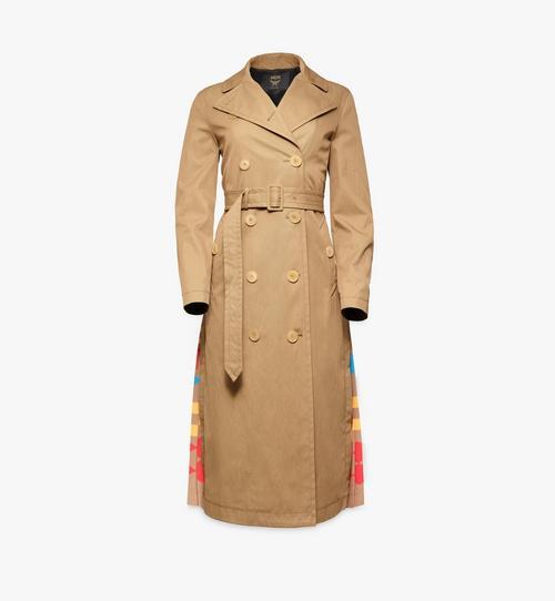 Women's Geo Plissé Trench Coat