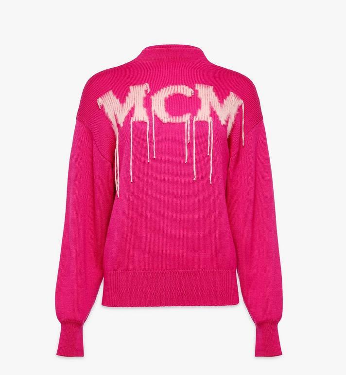 MCM Women's Intarsia Logo Wool Sweater Alternate View