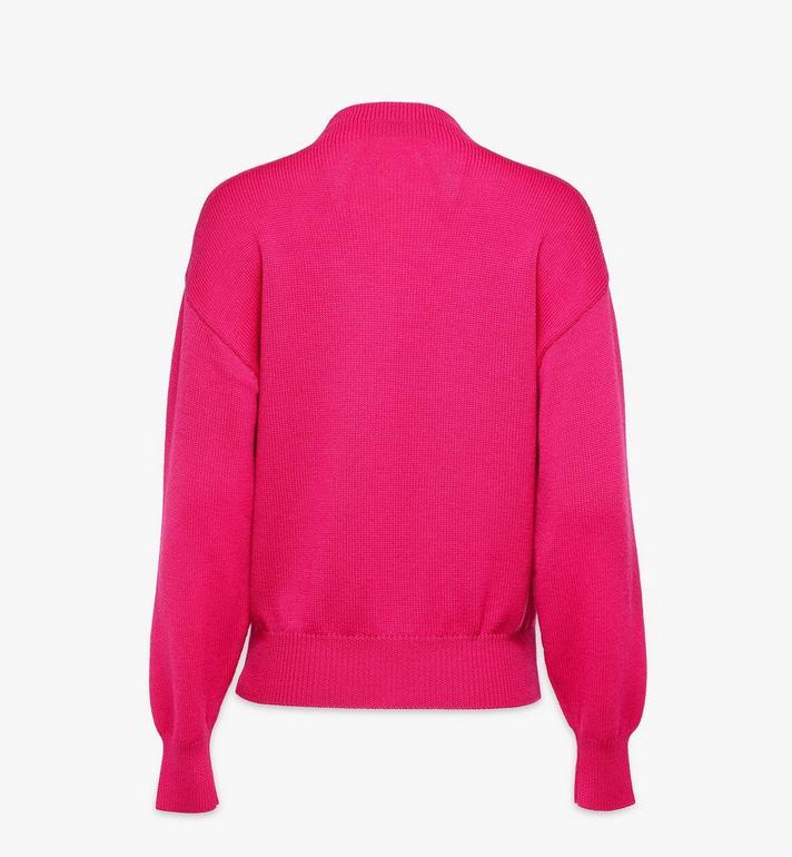 MCM Women's Intarsia Logo Wool Sweater Pink MFEAAMM01QJ00M Alternate View 2