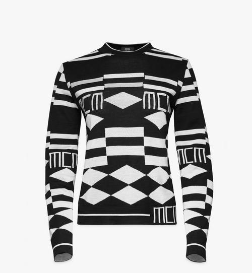Women's Geo Sequin Wool Sweater