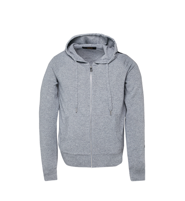MCM Sweat à capuche zippé en cachemire pour femme Grey MFJ7AMM22EG00L Alternate View 1