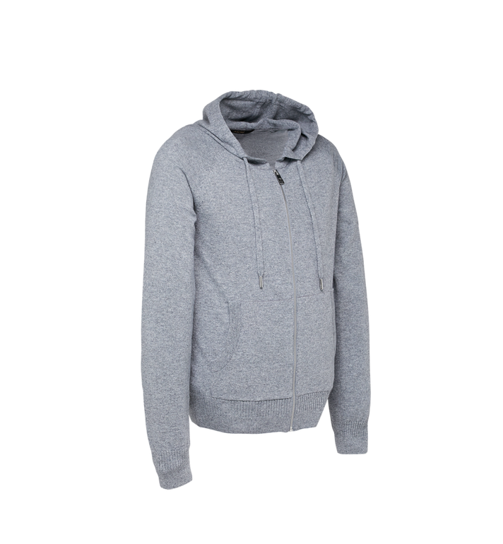 MCM Sweat à capuche zippé en cachemire pour femme Grey MFJ7AMM22EG00L Alternate View 2
