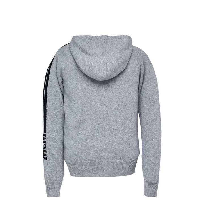MCM Sweat à capuche zippé en cachemire pour femme Grey MFJ7AMM22EG00L Alternate View 3